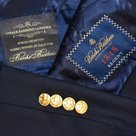 Brooks Brothers Other - NWT $648 42S Brooks Brothers Regent gold btn coat